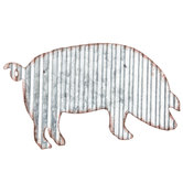 Pig Corrugated Metal Wall Decor
